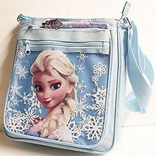 Large Disney Frozen Elsa Blue Shoulder Purse Bag/Messenger Bag with Pen-New!