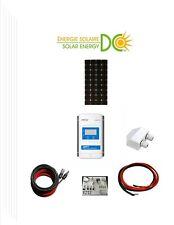 Solar Panel KIT Panneau Solaire 100 Watt mono W 20A MPPT charger cable Z bracket