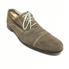 Men's Cole Haan Oxfords Shoes Size 10 M Brown Suede Cap Toe Casual Lace Up AJ6