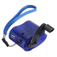 Hand Crank USB Mobile phone Emergency Charger Power MP3 for Camping Hiking Trek