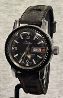 CHATEAU Women's Vintage Manual Diver Wristwatch Swiss Day Date Working Good Cond