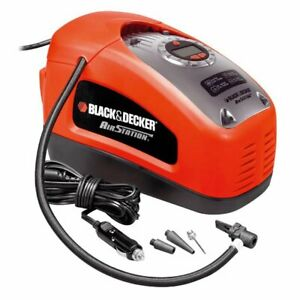 BLACK+DECKER ASI300-QCompresor de aire, 160 PSI, 11 bar, Multicolor (Rojo/Negro)