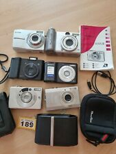 Job Lot Of 6 x Point And Shoot Digital Cameras All Faulty Not Working UNTESTED
