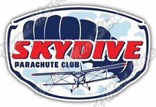 "Skydive Skydiving Parachuting Parachute Car Bumper Vinyl Sticker Decal 5""X3.5"""