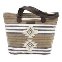 Women's Large Tote Bag Boho Travel Canvas Shoulder Handbag Brown Leather Straps
