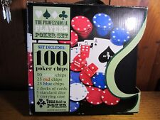 The Professional Players Poker Set With Texas Hold'em Poker