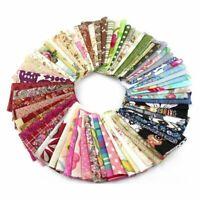 Fabric Patchwork Craft Cotton Material Batiks Mixed Squares Bundle, 10 x 10c M3L