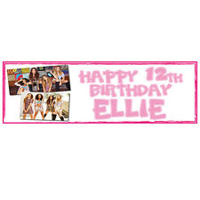 2 PERSONALISED LITTLE MIX BIRTHDAY BANNERS - 800 x 297mm