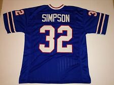UNSIGNED CUSTOM Sewn Stitched O.J. Simpson Blue Jersey - 3XL
