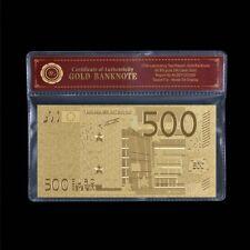 WR Billet Or € 500 EURO Souvenir Collector de l'Union Européenne