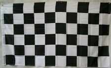 2x3 Black and White Checkered Rough Tex Knitted Flag 2'x3' Banner