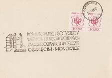 Poland postmark OSWIECIM - AUSCHWITZ MONOWICE concentration camp
