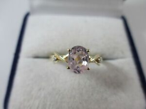 STUNNING PRE-OWNED, 9ct GOLD ROSE GOLD & DIAMOND RING UK SIZE P1/2  2.3g