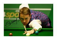 More details for stephen hendry 2 a4 reproduction autograph photograph poster choice of frame