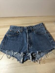 Vintage Levis Cut Off Distressed Denim Shorts W27