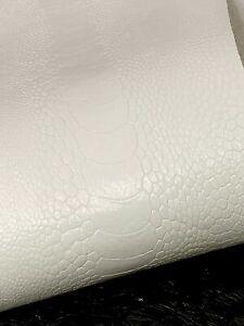 Ostrich Legs Skin Snow White Color GL  (%100 Genuine Ostrich Leather)
