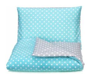 Baby Bedding Set Two-Sided For Crib 120x90 Spotted Pillowcase Duvet Cover Cotton