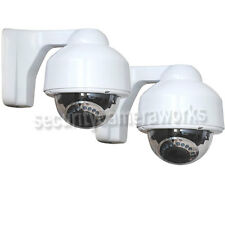 2x Dome CCD Security Camera Outdoor IR Night Vision Zoom CCTV Surveillance BCM