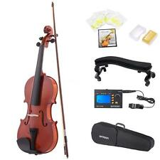 ammoon 4/4 Violin Fiddle with Tuner Strings Shoulder Rest Case Arbor Bow E8Z1