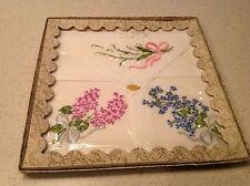 Vintage Ladies New Boxed Switzerland Embroidered Handkerchief Hankies Hanky