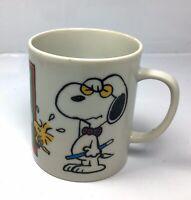 """Vintage 1965 Peanuts Coffee Cup - Snoopy Woodstock School """"My Mug"""" Ceramic"""
