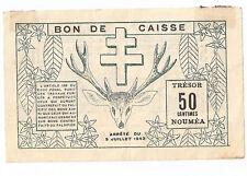 New Caledonia, Noumea 50 centimes 1942