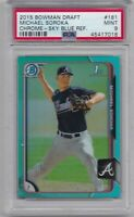 MIKE SOROKA ROOKIE 2015 Bowman Chrome Sky Blue Refractor #181 Graded PSA 9 MINT