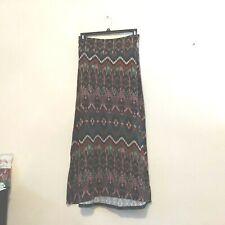 kirious womens skirt size L brown green rust long