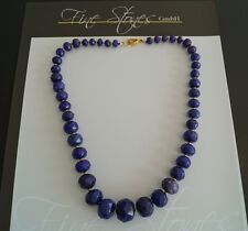 Edelsteinkette Achat Collier Kette Saphir Blau  fac !L 50 cm 8-20mm ca.500,0 ct