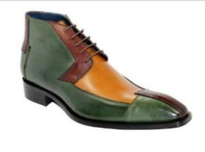 Mens New Fashion Multicolour Lace Up Formal British Oxford Dress Shoes Boots