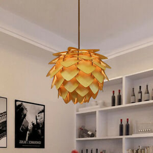 Wooden Hanging Ceiling Light Shade Pendant Lampshade Pinecone Lamp Shades