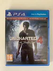 Uncharted 4 A Theif's End PS4 - BONUS MULTIPLAYER DLC AND REVERSIBLE COVER ART