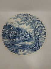 """Churchill Royal Mail Blue 10"""" Plate China Wessex Collection Stage Coach England"""