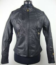 G-Star Raw FAE LEATHER Overshirt Jacket Donna Giacca di pelle tg s nuovo con etichetta