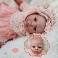 55cm Realistic Handmade Silicone Vinyl Reborn Baby Dolls Newborn Toddler Girls