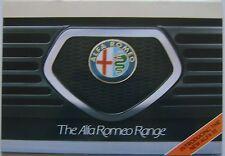 ALFA ROMEO TUTTI I MODELLI 1983 ORIGINALE UK SALES BROCHURE ALFASUD Sprint ALFETTA GTV