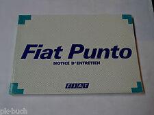 Betriebsanleitung / Notice D´Entretien Fiat Punto Stand 12/1997