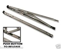 """SECURITY RESTRICTED UPVC Window Hinges Friction Stays. 12"""" 16"""" 24"""" (One Pair)"""