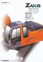 4006HIT Hitachi Zaxis 210 Prospekt GB Bagger 2003 brochure excavator pelleteuse