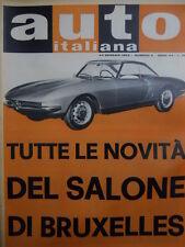Auto Italiana 4 1963 Tutte le novità del Salone di Bruxelles  [Sc.7A]