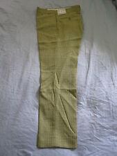 Mens 70's Vintage Farah Premium Twist Tatersall Checker Pants 29x28 Thin Skinny