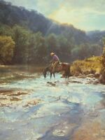 Refreshing Moment by Bob Wygant Horse 9x12  Western Landscape Open Edition Print