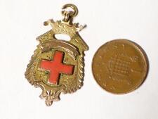 More details for antique 1919 9ct gold & enamel york hospital award fob medal a. stannard #y1