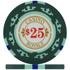 Crown Casino Royale 14g Poker Chips - Green $25 (Roll of 25)