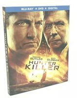 Hunter Killer (Blu-ray+DVD+Digital, 2019; 2-Disc Set) NEW w/ Slipcover