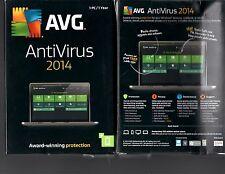 BRAND *NEW Avg AntiVirus 2014 1pcs 1 YEAR