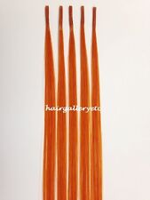 "12"" I tip Fusion 100% Human Hair Extension-5 pcs + Micro Hair Beads USA SELLER"