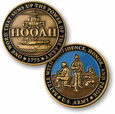 U.S. Army / HOOAH - Brass Challenge Coin