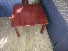 "Square mahogany hardwood coffee table 21""x21""x height 14"""