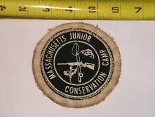 "Vintage Patch ""Massachusetts Junior Conservation Camp"" Hunting Fishing"